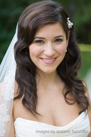 The radiant bride, Amanda! Makeup by Maya Goldenberg.