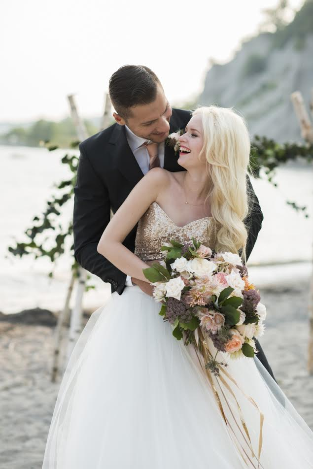 As seen on  Style Me Pretty.com  All photos by Whitney Heard, all makeup by Maya Goldenberg. See more from this beautiful bridal shoot at the Scarborough Bluffs in my  portfolio !