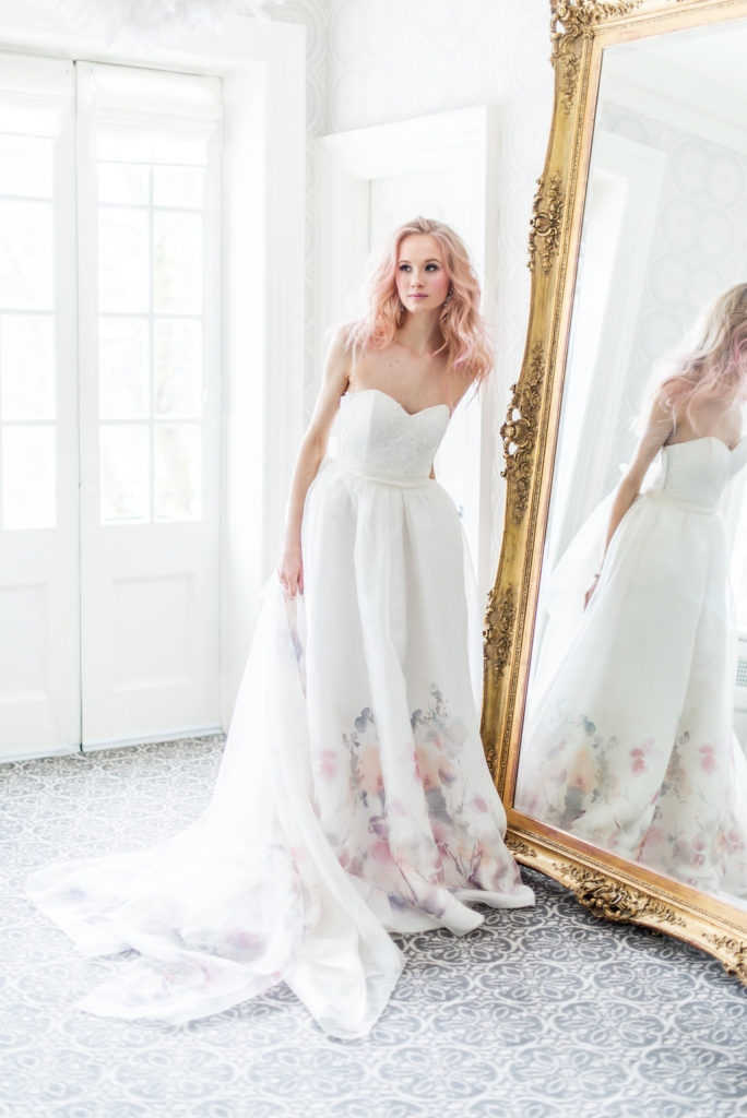 """As seen in """" The Wedding Co""""  and at the Wedding Co Event at Wychwood Barns, Catherine Langlois' collection of made-to measure, couture wedding gowns. Toronto, ON. 2017. Photo by Whitney Heard, makeup by Maya Goldenberg. Photographed on-location at Graydon Hall. See more from this collection in my  Portfolio and blog !"""