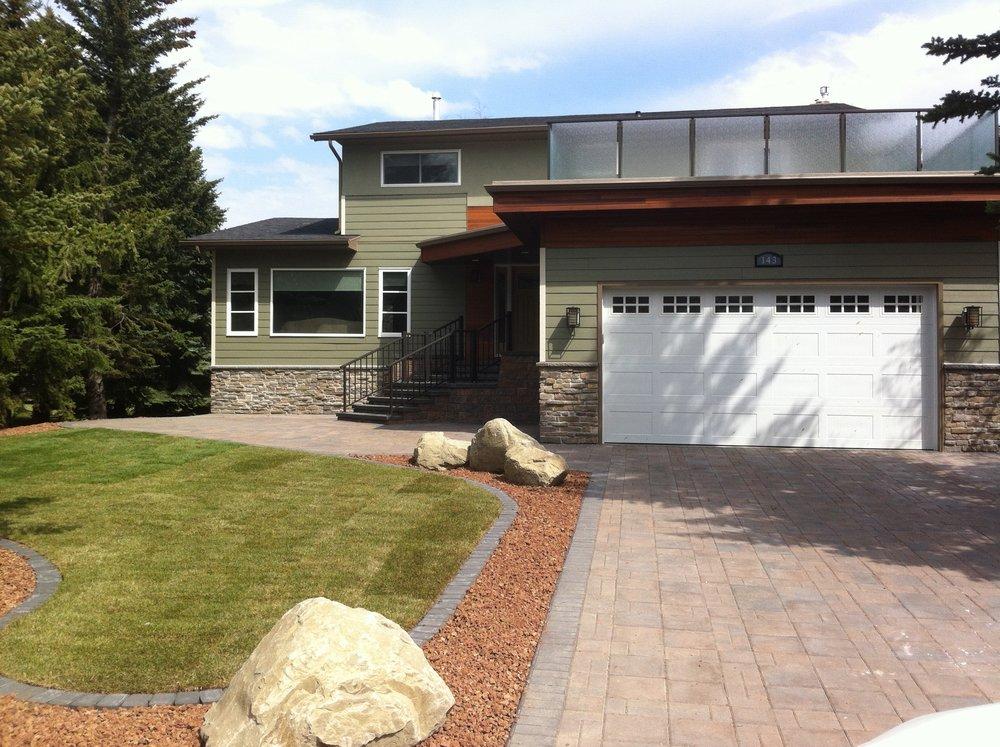 Exterior Renovation in the Calgary community of Lake Bonavista