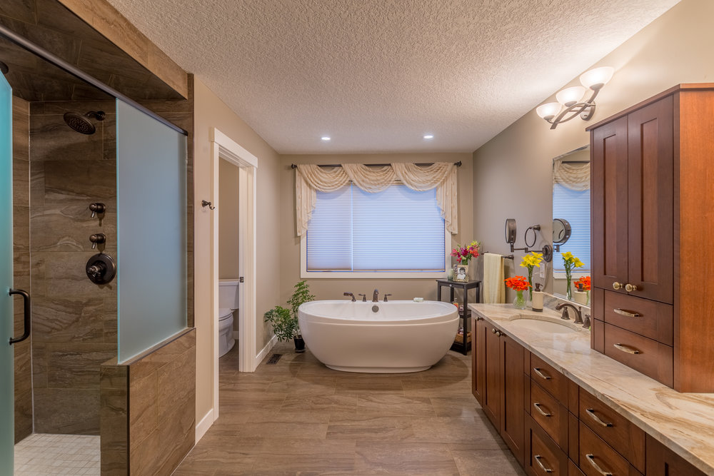 Bathroom Renovation in the Calgary community of Hidden Valley