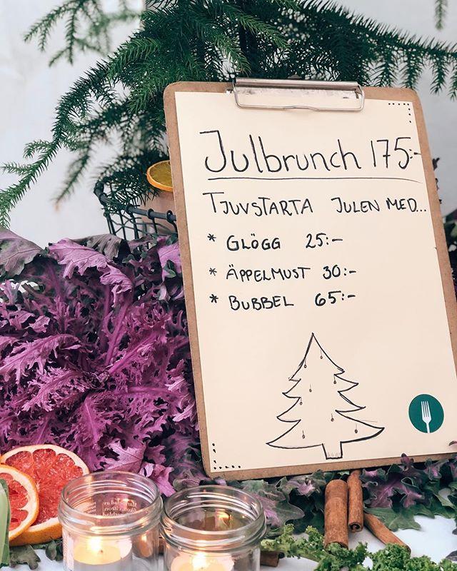 Fira lördag med en härlig Julbrunch! Man blir mätt som tusan. Serveras mellan 11.00-14.30.