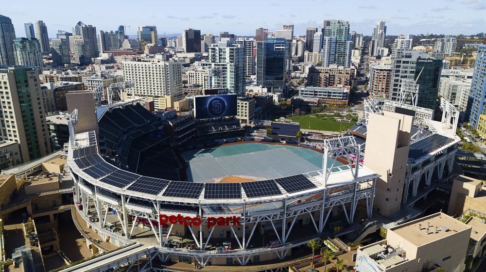 Petco park solar project in downtown san diego