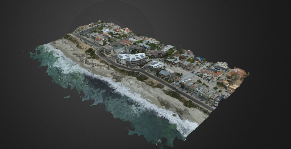 3D model of windansea beach, la jolla, california
