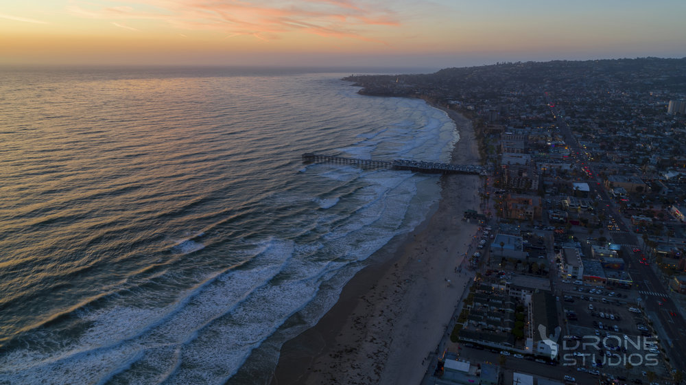 Drone photography of Pacific Beach, CA