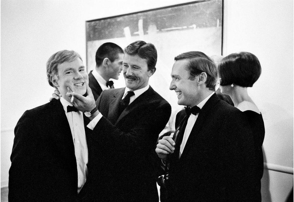Julian Wasser's photograph of (from left) Andy Warhol, Billy Al Bengston, an d Dennis Hopper. Image courtesy of Hunter Drohojowska -Philp's  Rebels in Paradise: The Los Angeles Art Scene and the 1960s  (Henry Holt and Co . ).   Franklin Parrasch ,    owner,      Franklin Parrasch Gallery    Most influential artist of the 20th century? For me, that's  Andy Warhol  since Picasso is too obvious. Not only has Warhol profoundly affected so many of the artists I care about —from  Ken   Price  to  Stephen Shore ,  and basically anyone who effectively uses black in their work —in his own bizarre and perverse way, he was kind of a mensch. His enormous generosity of spirit w as emblazoned in everything he did, from his interactions with the public to his fostering of the eclectic (one might say experimental) community of the Factory. Who doesn't adore that iconic Ferus Gallery photo of a macho  Billy Al Bengston  tightly squooshing an accepting young Andy's cheeks? He placed others' satisfaction above his own. It wasn't about adoration of celebrity or the mesmerizing seduction of advertising: pansies and car wrecks got equal billing with Liz and Campbell's soup. It was always about the cycle of sensual fluidity, the simultaneous fecundity and sexuality in all he depicted. He saw the dignity in everything.