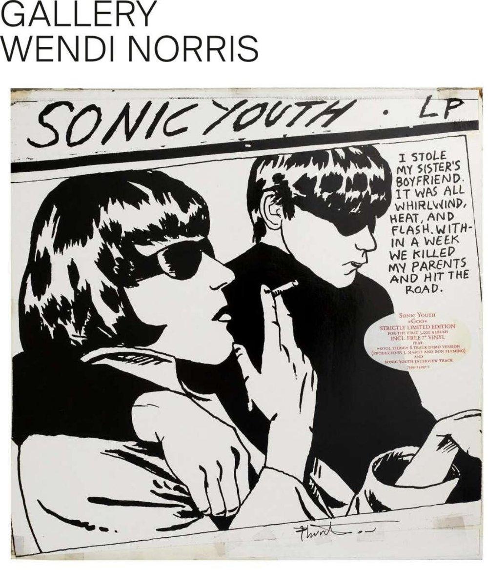 "Photo: � Raymond Pettibon, Fraenkel Gallery  Raymond Pettibon, ""Goo"" by Sonic Youth (1990)"