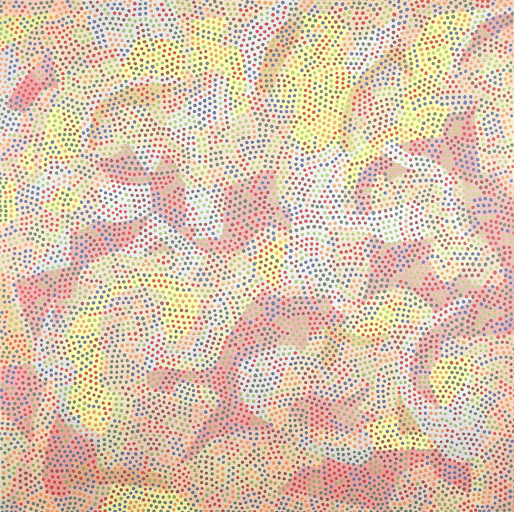 Peter Young ,  #4- 1971 , 1971, Acrylic on canvas, 75 x 75 inches (190.5 x 190.5 cm)