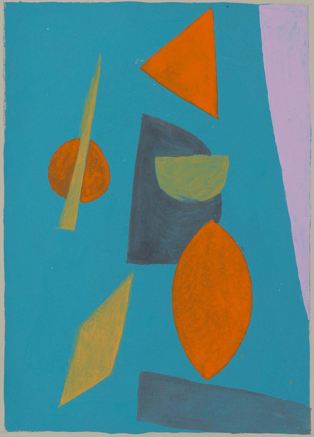 Peter Young,  #28 - 1989 , 1989, Acrylic on paper, 15 x 11.5 inches (38.1 x 29.2 cm)