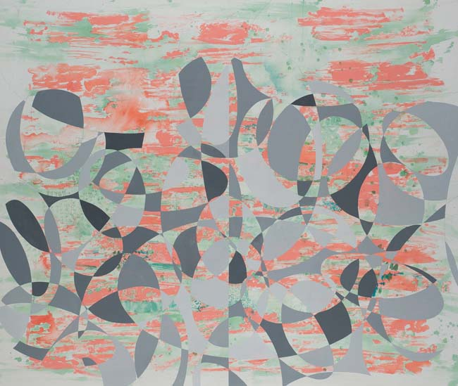 Peter Young,  #36 - 1994 , 1994, Acrylic on canvas, 67 3/4 x 80 1/2 inches (172.1 x 204.5 cm)