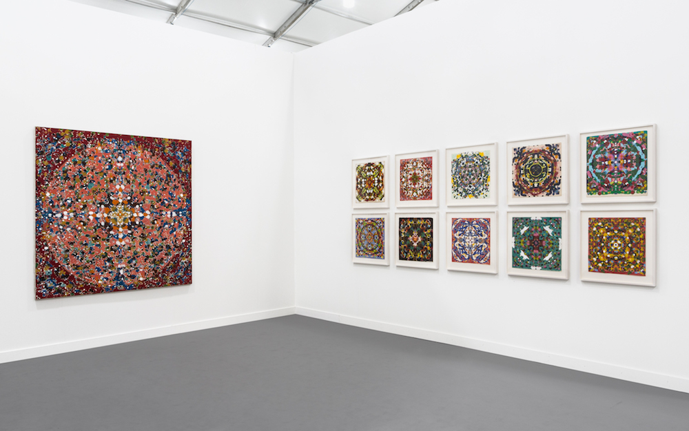 Peter Young: Mandala Paintings (1973-74), Installation view, 2017, Frieze New York, Gallery Wendi Norris, New York, NY