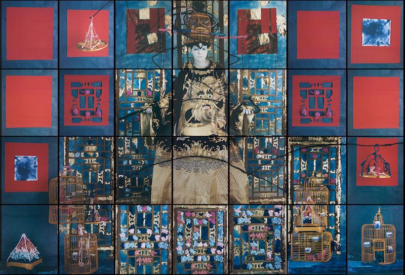 María Magdalena Campos-Pons , Finding Balance,  2015, Polaroid Polacolor Pro, 96 x 140 inches (243.8 x 355.6 cm)