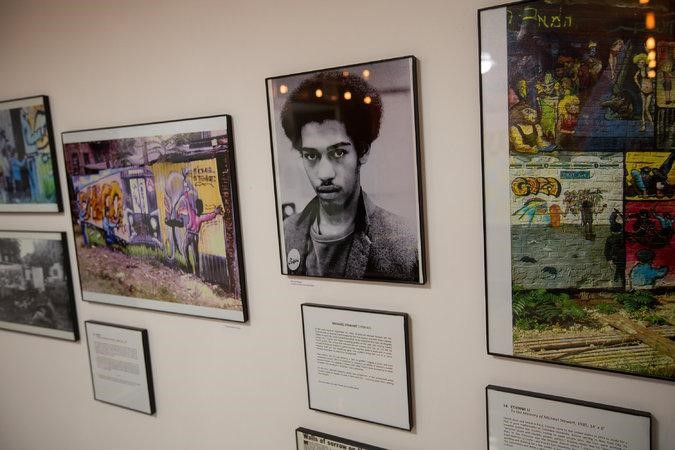 """A portrait of the graffiti artist Michael Stewart is among the works in """"La Lucha Continua"""" at the Loisaida Center. CreditMichael Nagle for The New York Times"""