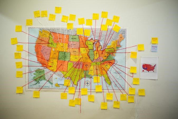 "At Badlands Unlimited, the ""New Proverbs Campaign Map."" CreditMichael Nagle for The New York Times   BADLANDS UNLIMITED  This independent    publishing company,   established  in 2010 by  the  Hugo Boss Prize winner  Paul Chan, is staffed entirely by artists: Parker Bruce, Ian Cheng and Ambika Subramaniam, with Micaela Durand as director. It publishes in both digital and analog formats, and has temporarily turned its modest office headquarters into a gallery-like display of one of its more recent products, a line of ready-made protest posters called ""New Proverbs."" Rainbow-colored, with eye-socking type, they're modeled on signs designed and carried by members of the Westboro Baptist Church in Topeka, Kan. — signs notable for their anti-Semitic and anti-gay-and-transgender content. The Badlands versions change the targets without always diluting the offensiveness. This is instant art-as-politics. Drop by, plunk down your cash and hit the street, ready for a fight."