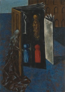 Dorothea Tanning,  Fatala , 1947, Oil on canvas, 10 x 7 inches (25 x 18 cm)