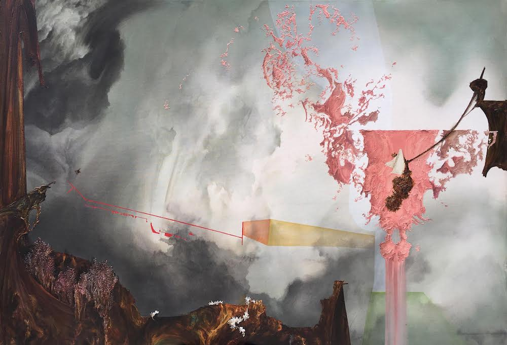Eric Siemens,  Rhumb Reckoning , 2018, Acrylic on canvas 44 x 64 inches (111.8 x 162.6 cm)
