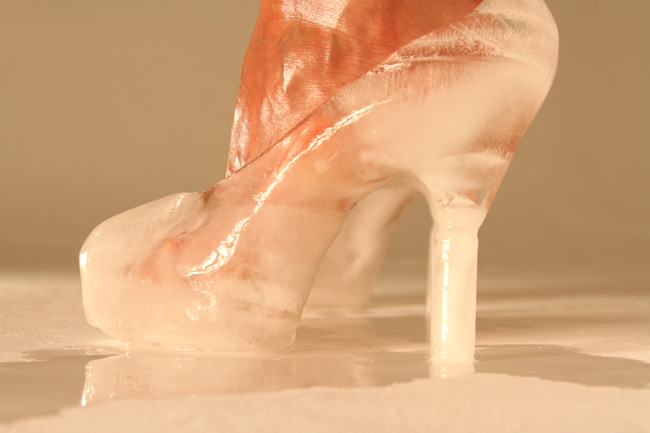 Ana Teresa Fernández,  Ice Queen (performance documentation),  2011, digital still from 45 min performance, 18 x 27 inches (46 x 68.5 cm), Edition of 5