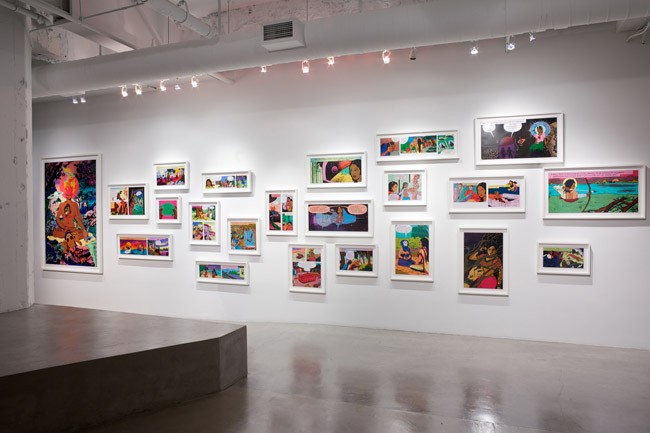 Chitra Ganesh: Flickering Myths,  installation view, Gallery Wendi Norris, San Francisco, CA, November 1 — December 22, 2012