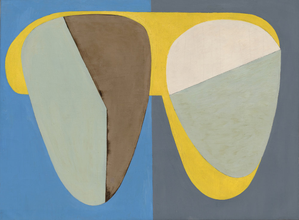 Wolfgang Paalen,  Deux Tetes II,  1935, Oil and tempera on canvas, 37 3/4 x 50 1/2 inches (95.9 x 128.3 cm)