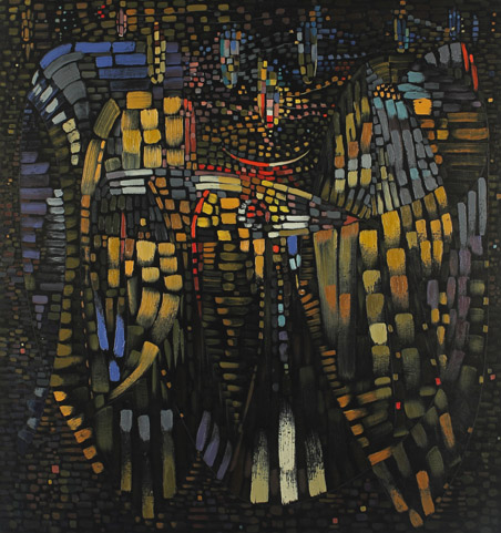 Nuit tropicale (Tropical Night), 1948, oil on canvas, 59 x 55 inches (149 x 140 cm)