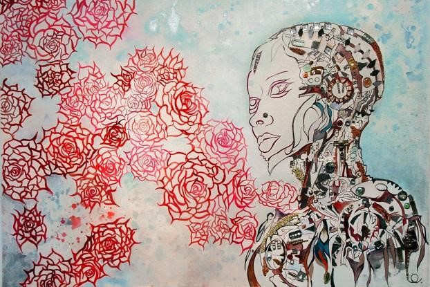 Robot rose , by Chitra Ganesh (2013)