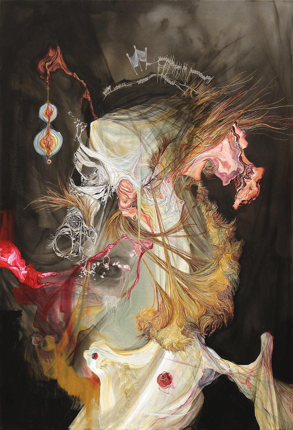 Kate Eric,  No No Uncle 4,  2011, Acrylic on canvas, 64 x 44 inches (163 X 180 cm)