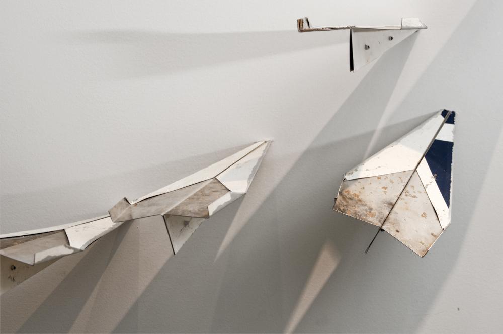 Claire Healy and Sean Cordeirdo: Par Avion,  installation View, Gallery Wendi Norris, San Francisco, CA, December 10, 2011 — January 28, 2012