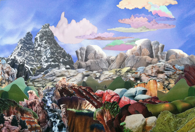 Mary Anne Kluth ,   Master Study, the Teton Range,  2013, hand cut archival photo collage, 11 1/2 x 8 inches (29.25 x 20.3 cm)