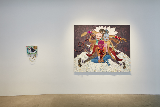 Chitra Ganesh: Protest Fantasies , installation view, Gallery Wendi Norris, September 10 – October 31, 2015, Photographer: JKA Photography
