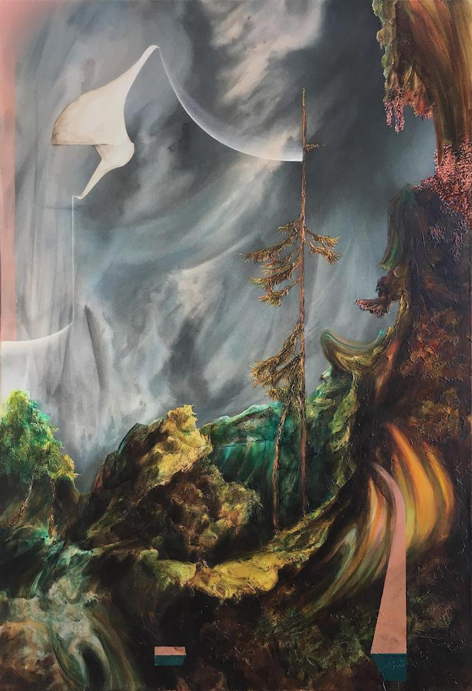 Pilgrims I,2018 Acrylic on canvas 44 x 30 inches (111.8 x 76.2 cm)