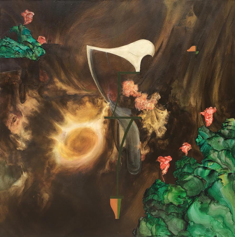Night Gardener I,2018 Acrylic on canvas 36 x 36 inches (91.4 x 91.4 cm)