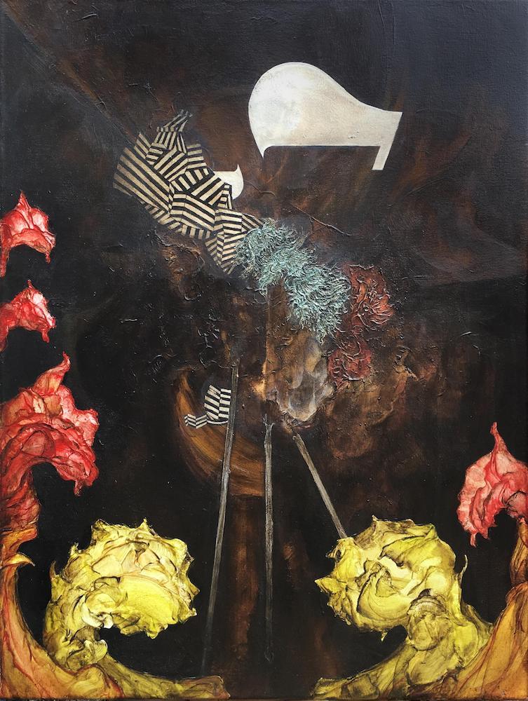 Night Gardener II,2018 Acrylic on canvas 32 x 24 inches (81.3 x 61 cm)