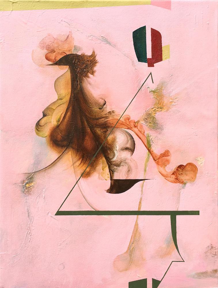 Reredo II,2018 Acrylic on canvas 24 x 18 inches (61 x 45.7 cm)