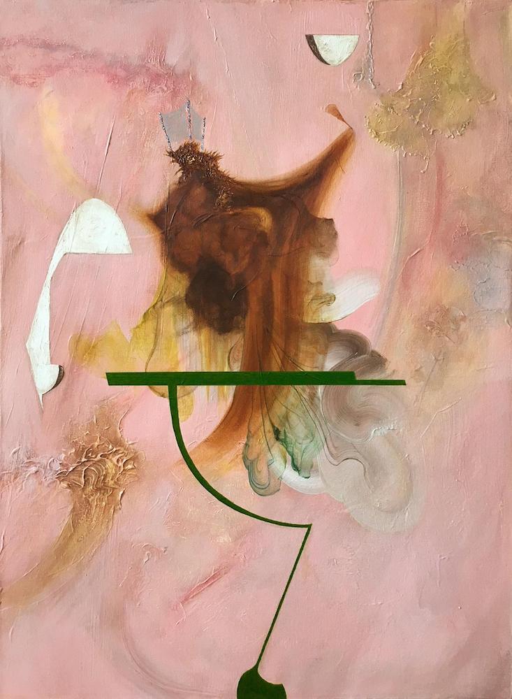 Reredo IV,2018 Acrylic on canvas 30 x 20 inches (76.2 x 50.8 cm)