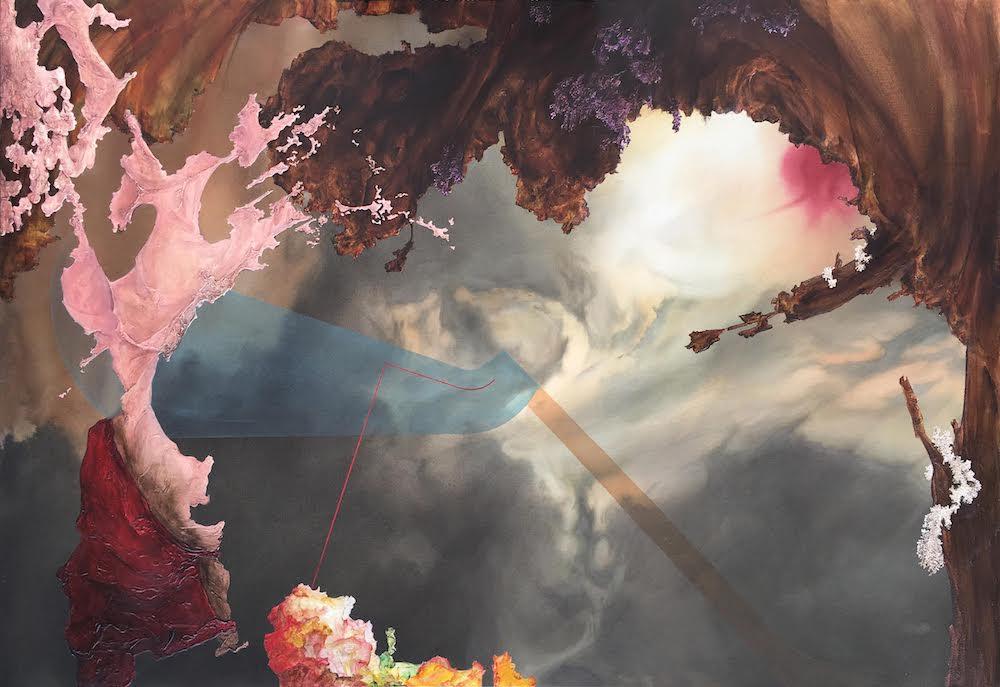 Rhumb Reckoning II,2018 Acrylic on canvas 44 x 64 inches (111.8 x 162.6 cm)