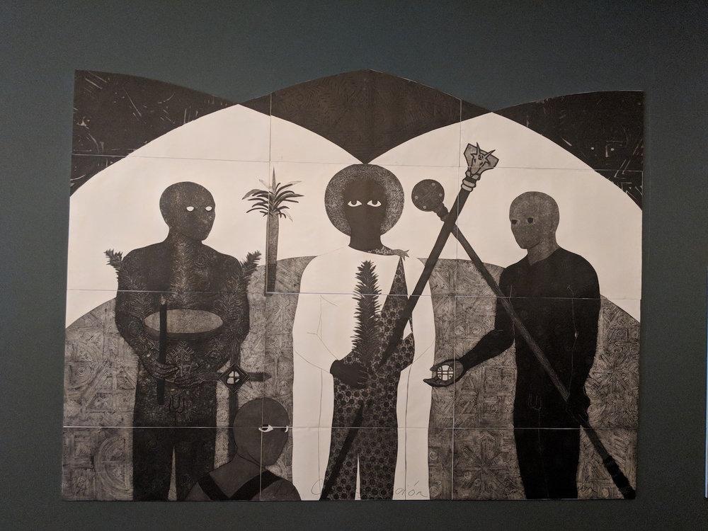Belkis Ayón, La consagración (Die Weihe, The Consecration) 1991, Triptych. Photo: C&.
