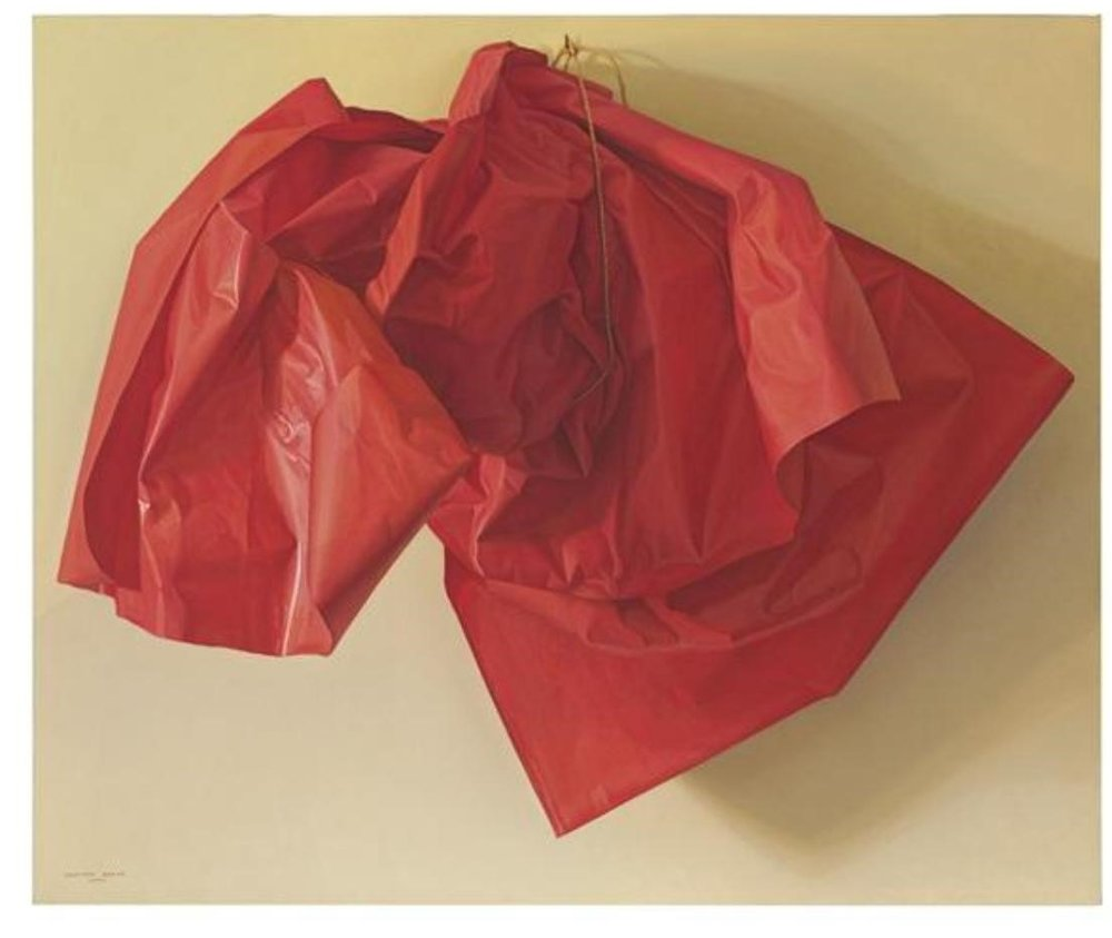 Claudio Bravo's  Red Paper  (2005), sold for $1.4 million at Christie's (estimate: $500 –$700,000).  Image: Courtesy Christie's.