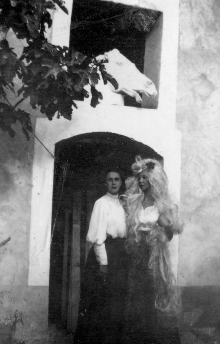 Leonor and Leonora as horses at Saint-Martin d'Ardèche, 1939  Photo: © The Estate of Leonor Fini, Paris / Courtesy Richard Overstreet