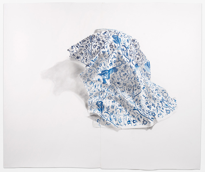 Firelei Báez,  Patterns of Resistance,  2015, Acrylic and ink on linen, 108 x 74 inches (274.3 x 188 cm)