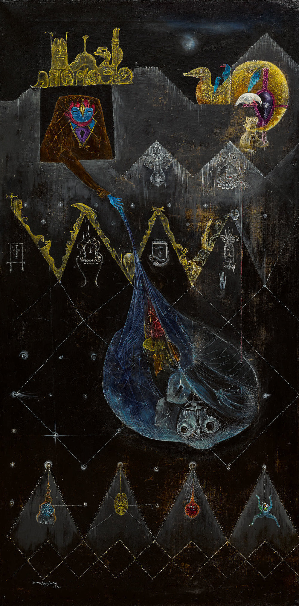 Leonora Carrington,  The Dark Night of Aranoë , 1976. Courtesy of Sotheby's.