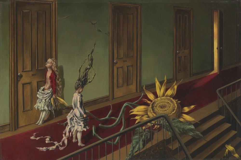 Dorothea Tanning,  Eine Kleine Nachtmusik , 1943. © DACS, 2018. Courtesy of Tate.