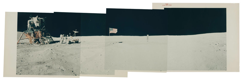 "A panoramic view of the Descartes landing site from the Apollo 16 mission. The Louisiana Museum in Denmark's new exhibition ""The Moon: From Inner Worlds to Outer Space"" examines humanity's fascination with the moon over hundreds of years.CreditCreditNASA and Collection Victor Martin-Malburet"