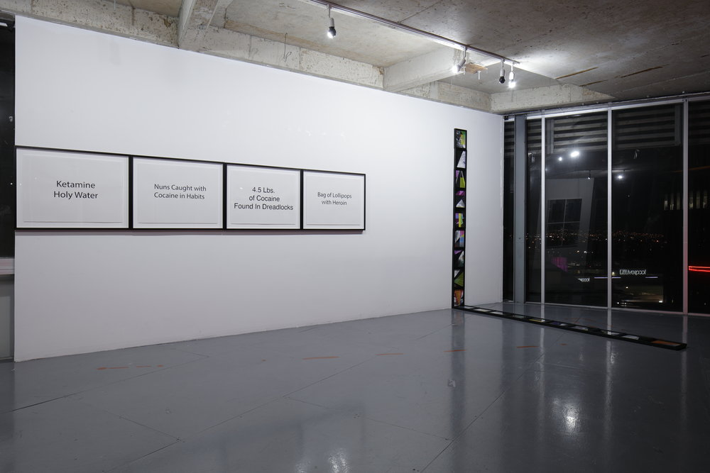 Julio César Morales: This World is Not For You,  installation view, Gallery Wendi Norris Offsite, Torre Cube, Floor 13, Guadalajara, Mexico, February 2 - 28, 2018