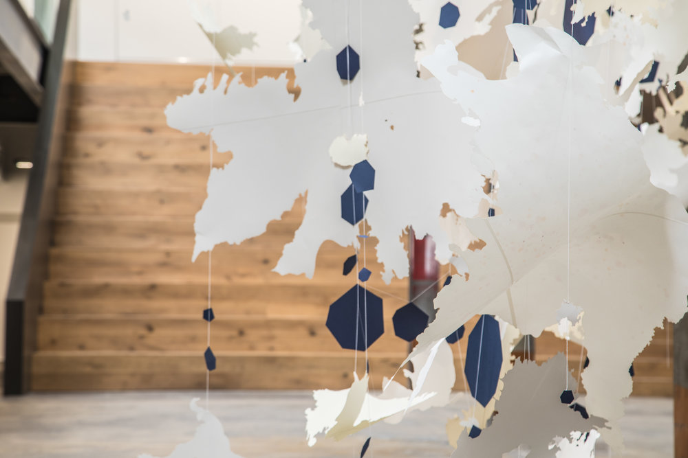 Val Britton: The Shape of Change,  installation view, Gallery Wendi Norris Curatorial Project, Hired Commission, 1275 Minnesota Street, San Francisco, CA, April 10 - 14, 2018