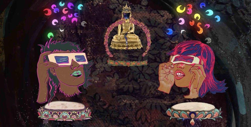 Chitra Ganesh, Rainbow Body (still), 2018, digital animation   Courtesy of The Artist