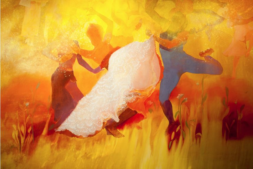 Firelei Báez,  magnitude and bond  [detail] (2018). Image courtesy the artist and Kavi Gupta Gallery.