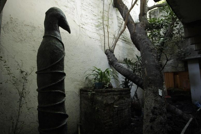 La Galina Ciega  (The Blind Hen), the inner garden of the home of Leonora Carrington.  Photo by Natalie Matutschovsky, Art Direction by Natalie Matutschovsky, Alisha Piercy, and Heidi Sopinka
