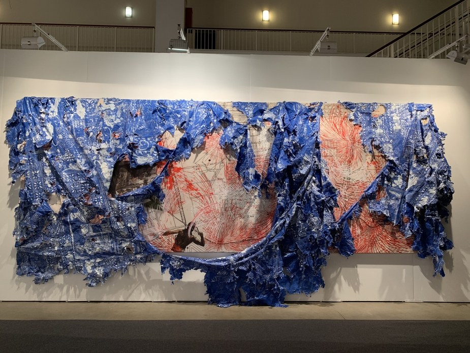 Firelei Báez's mural.  Photo: Courtesy of Expo Chicago