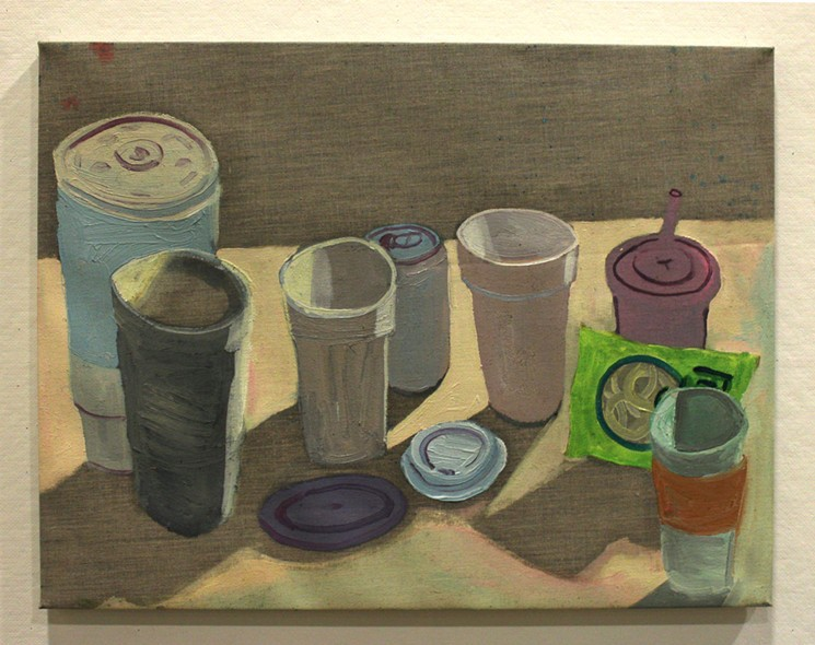 Ezra Johnson,  Cups, Lids and Funyuns,  courtesy of Mindy Solomon Gallery, Miami