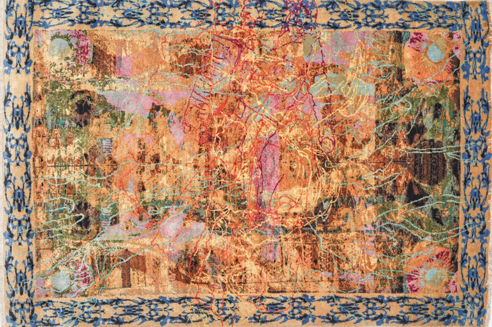 "Ranu Mukhergee, ""Begin,"" wool, 48 by 72 inches.  Photos by Michael D. Wilson/ Courtesy of Institute of Contemporary Art at Maine College of Art"